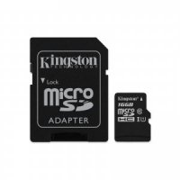 MÄLUKAART KINGSTON MICRO SDHC 16GB UHS-I + SD ADAPTER 80/10MBs