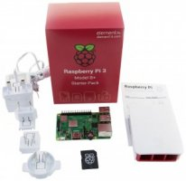 Complete Starter Kit for Raspberry Pi 3 Model B+, 16GB microSD Card with NOOBS OS, Official Case and PSU Included