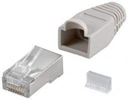 Goobay 68746  RJ45 plug, CAT 5e STP shielded koos strain-relief boot, hall