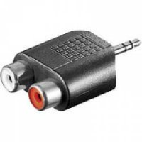 Goobay RCA adapter. AUX jack 3.5 mm meessoost to 2 stereo naissoost 11604