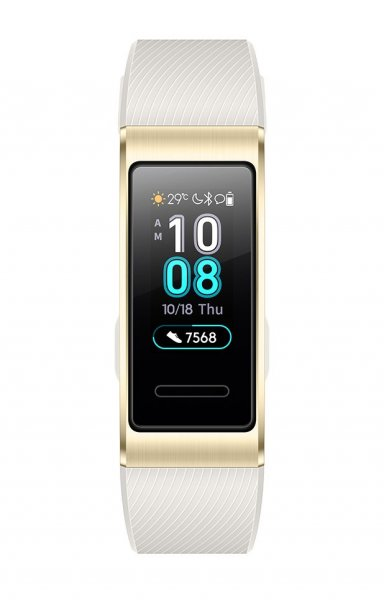 0cc160b1215 Huawei Band 3 Pro Compact Sport Bracelet for Activities Heart Monitor /  AMOLED / GPS Gold