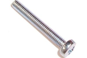screw DIN 7985 M4 x 40 cross flat zinc coated