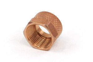 union nut 11mm - copper plated