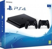 SONY PLAYSTATION 4 CONSOLE 1TB SLIM BLACK + 2nd Dualshock Controller